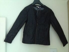 Girls John Lewis Faux Leather Jacket Size 8 year old