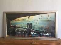 Framed print of Brooklyn Bridge by Tony Soulie