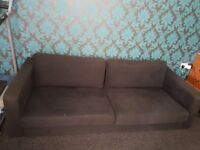 Large dark grey sofa for free. 81 inches long. Collection only. Need a van