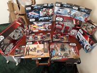 Star Wars Black Series, 40th Anniversary and AT AT and Millennium Falcon Drone and vehicles etc