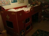 Kids high raiser bed with space for storage
