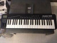 Alexis QX49 MIDI Keyboard Controller + M-Audio Sustain Pedal