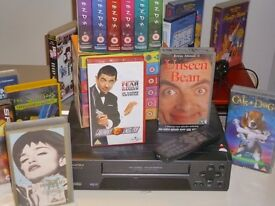 2 VHS RECORDER 1 VHS WITH REMOTE CONTROL 1DVD PLAYER OVER 20 TITLES