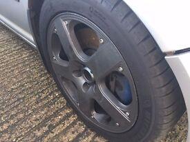"17"" Genuine VW Golf Santa Monica Alloy Wheels & Tyres - 5x100 1J0601025S"