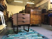 Retro chest of drawers - vintage mid century danish bedside table cabinet side end g plan ercol