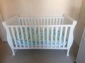 John Lewes Martha Sleigh cot bed