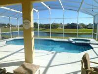 KISSIMMEE, FLORIDA Disney Area Stunning Lake Front 5 Bedroom 3 Bath Pool Villa With Pool & Spa