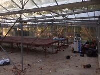 Industrial Green houses for sale 45m X 20M