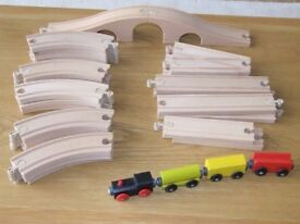 Wooden Railway. Lillabo (Ikea) Excellent Condition.