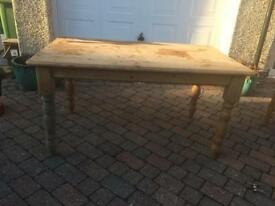 Chunky pine table