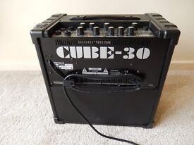 Roland Cube 30 Guitar Amplifier, with COSM Sound modelling
