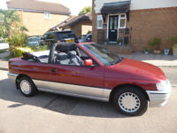 FORD ESCORT 1.4 DASH LIMITED EDITION 2 DOOR CONVERTIBLE 'K' REG - 1 LADY OWNER - 22,000 MILES