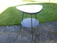 NICE LITTLE GLASS TOP TABLE in GOOD CONDITION ONLY £15
