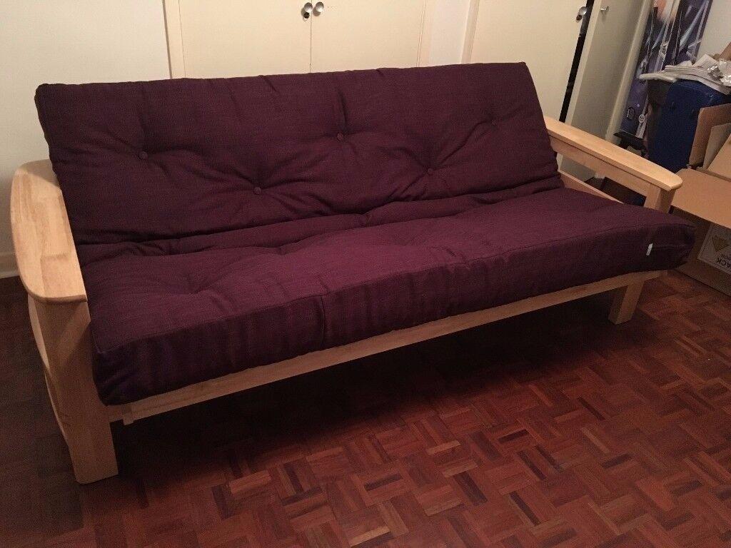 3 Seat Futon Sofa Bed Victoria Plum