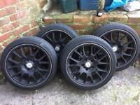 """BBS motorsport 18"""" alloy wheels 5x120 (BMW 1 series, 3 series, insignia, transporter may fit more)"""