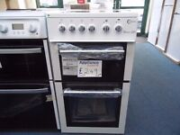 NEW GRADED WHITE 50 WIDE FLAVEL FREESTANDING COOKER REF: 31059
