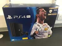 PS4 Pro 1TB + FIFA 18 - New / Sealed