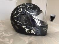 Medium AGV S-4 Matt black motorcycle helmet
