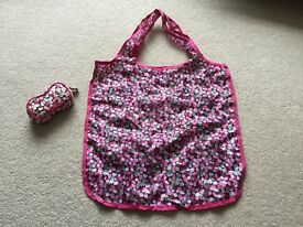 Boots foldaway carry tote shopper bag in pink New