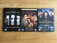 Twilight Saga DVDs (5 movies)