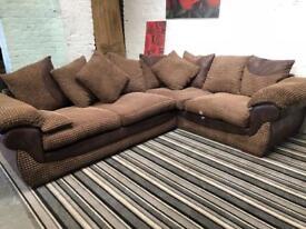 Amazing beige fabric corner sofa