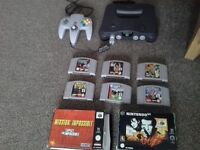 Nintendo 64 with 8 games for sale n64 £90 ovno