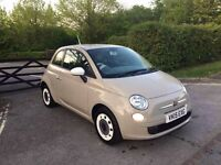 2015 FIAT 500 COLOUR THERAPY BEIGE STOP/START 18,000 MILES IMMACULATE CONDITION