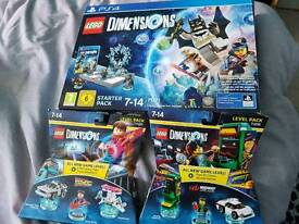Lego dimensions PS4 starter pack + midway arcade pack and back to the future