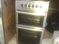 FREESTANDING ELECTRIC OVEN COOKER HOB, BRUSHED CHROME STAINLESS STEEL, BEKO ,DELIVERY IS POSS