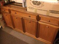 Solid wood 4 door 3 drawer sideboard