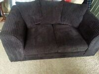 LUSH LITTLE DARK BROWN CORD 6 MONTH OLD SOFA.