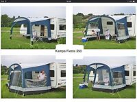 Kampa Fiesta 350 awning. In excellent condition, only used for two summer seasons.