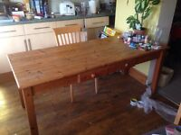 Large Pine Kitchen Table for sale 6ft x 2.5ft