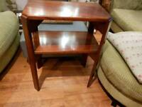 Vintage Retro Side Table Hall Table Console Plant Stand Bedside Table