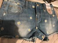 Girls shorts 11-12 years brand new with tags