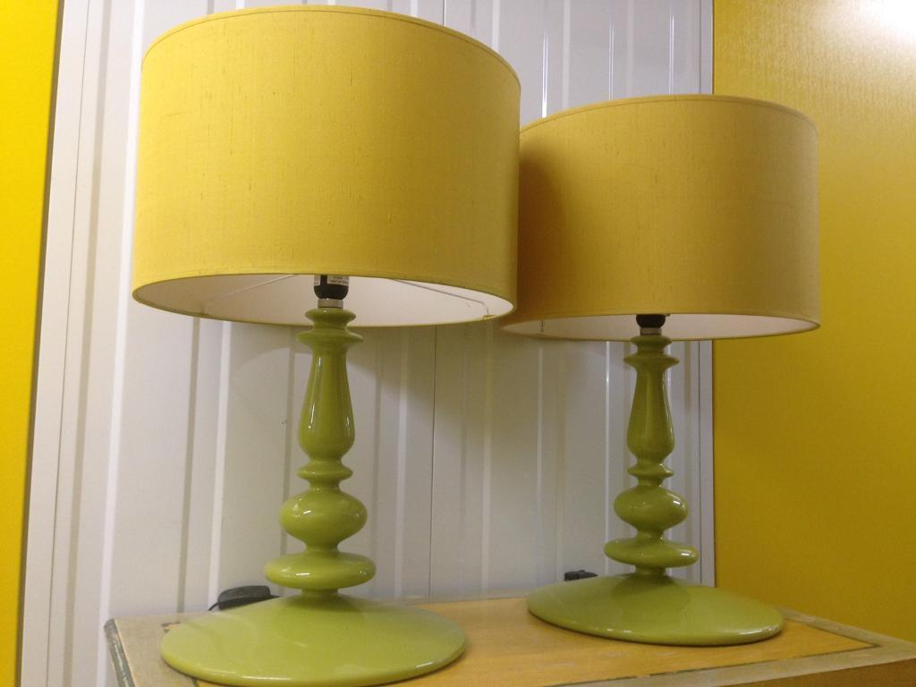 Pair habitat retro vintage cool spindle table lamps laura ashley pair habitat retro vintage cool spindle table lamps laura ashley john lewis loaf oka lombok aloadofball