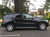 BLACK M-CLASS 2006 MERCEDES-BENZ ML 320 CDI 7G-TRONIC LOW ROAD TAX, VERY CLEAN