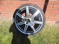 Alloys fits Mercedes C class reasonable order £175 plenty left on tyres