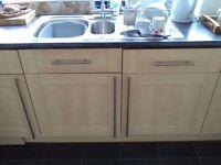 Maple Kitchen Cupboard Units