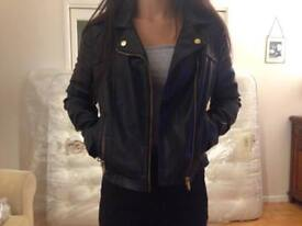 Faux Leather Jacket from Miss Selfridge