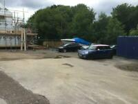 Secure yard for rent 25m x 25m suitable for Car/Van