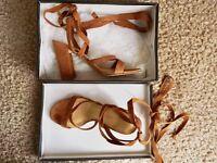 Ivanka Brown Suede Heels, size 5.5