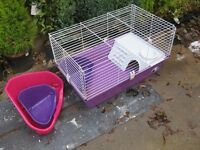 "pet cage 19""x 30""with front opening door with odd bins £25 o.n.o."