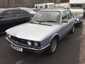 BMW 520I 1979 sold with 12 months mot