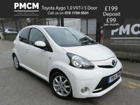 TOYOTA AYGO 2014 1.0 VVT-I MODE AC 5 DOOR - LOW INSURANCE - LONG MOT - c1 107 yaris (white) 2014