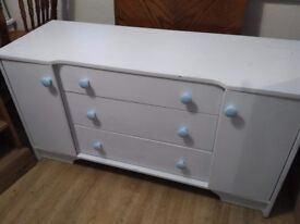 Shabby chic sideboard with drawers and cupboards