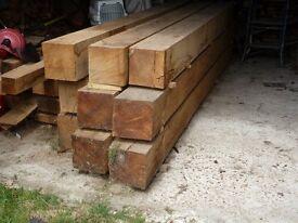 Oak Beams 200mm x 200mm x 3m. Air dried.