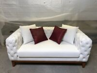 2 Seater Leather Sofa Handmade *SHOWROOM STOCK FACTORY CLEARANCE* FREE DELIVERY