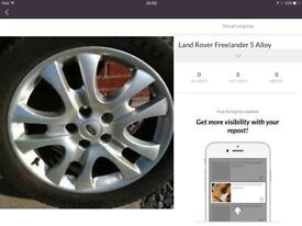 """Land Rover Freelander 17"""" alloy and brand new tyre 225/55/R17"""