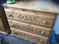 Boys bedroom football furniture bed wardrobe drawers bespoke by Steve Allen
